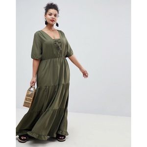 ASOS Junarose Tiered Prairie Tassel Maxi Dress